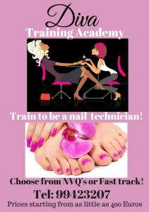 diva nail tech poster
